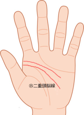 手相 二重頭脳線