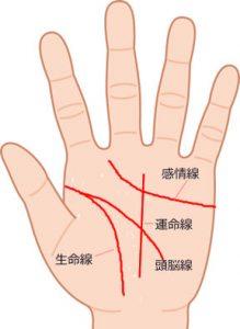 手相の4大基本線